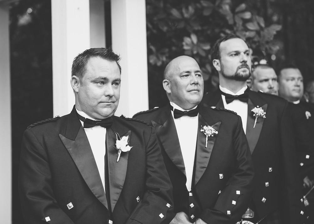 Groom's wedding ceremony reaction