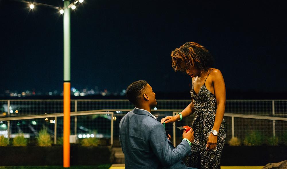Rooftop surprise proposal