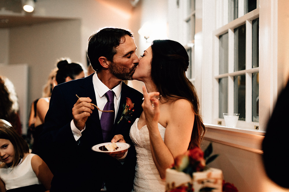 Kissing and cake