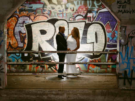 Graffiti Engagement Pictures at Krog Street Tunnel