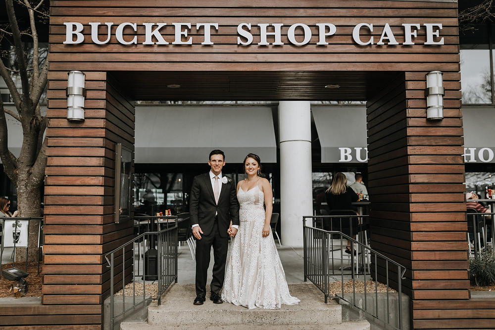 Wedding Day Pictures At Bucket Shop Cafe In Atlanta