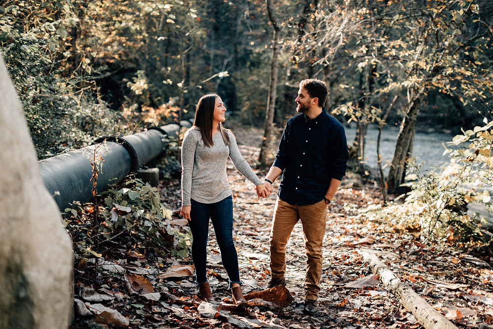Roswell Mill engagement pictures