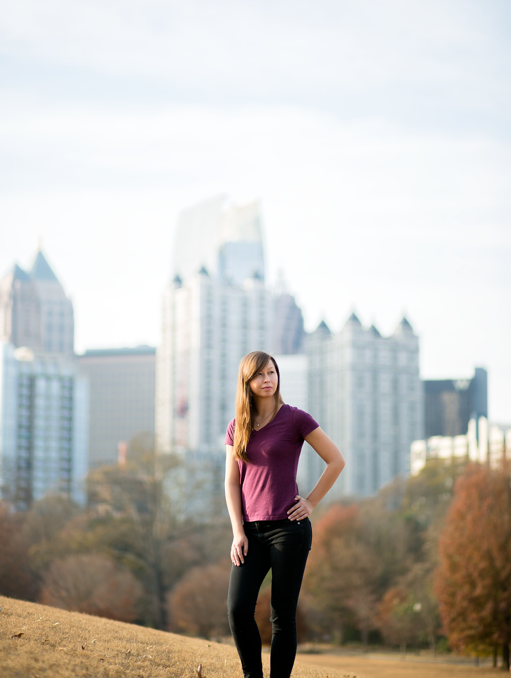Hands on the hips pose in Piedmont Park