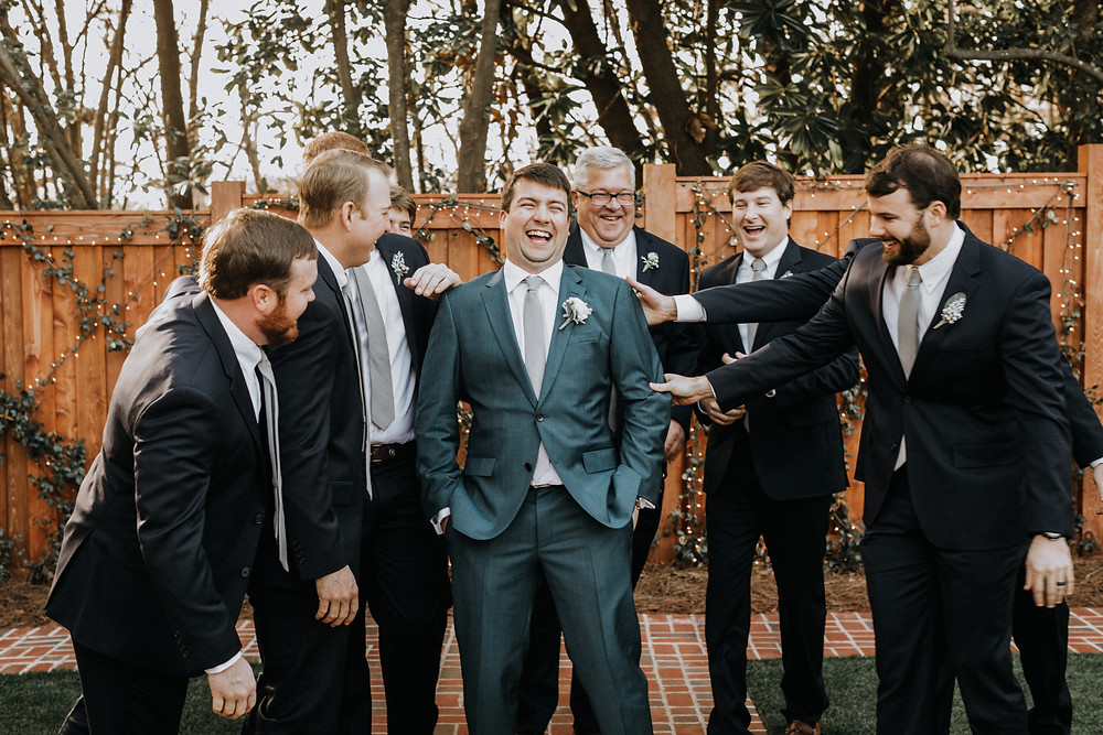 Groomsmen candid moments