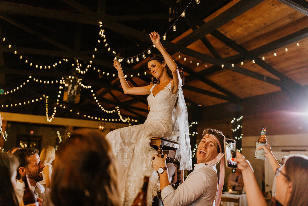 bride carried on a chair