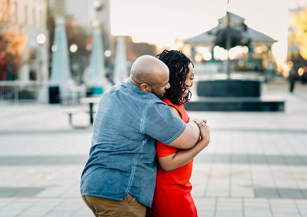 Atlanta candid engagement photographers