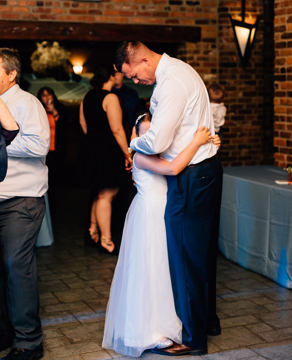 Emotional moment at wedding