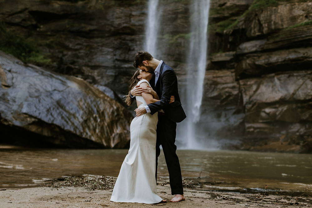 water fall elopement