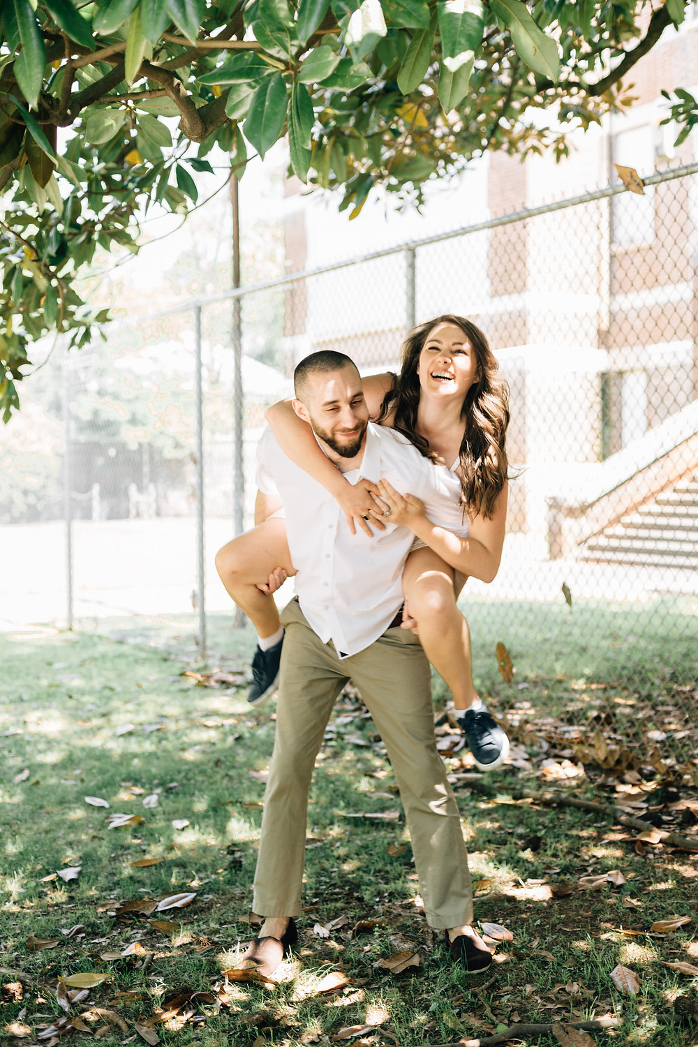 Piggy Back engagement pictures