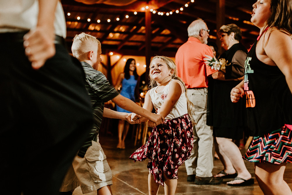 Kids dancing at reception