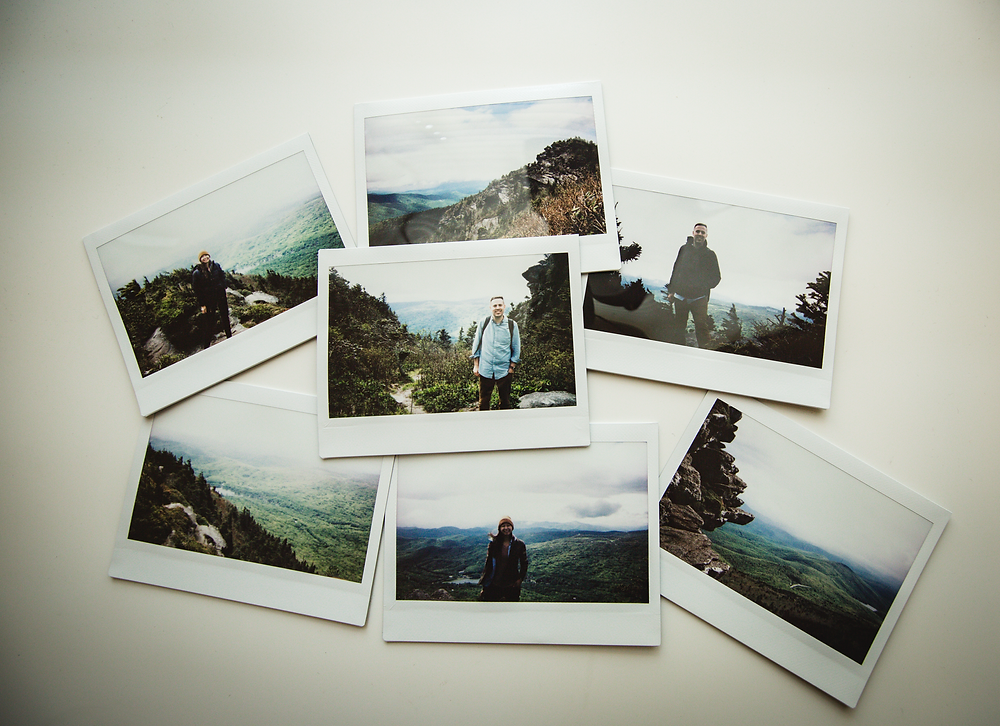 Polaroid collection from the mountain trip