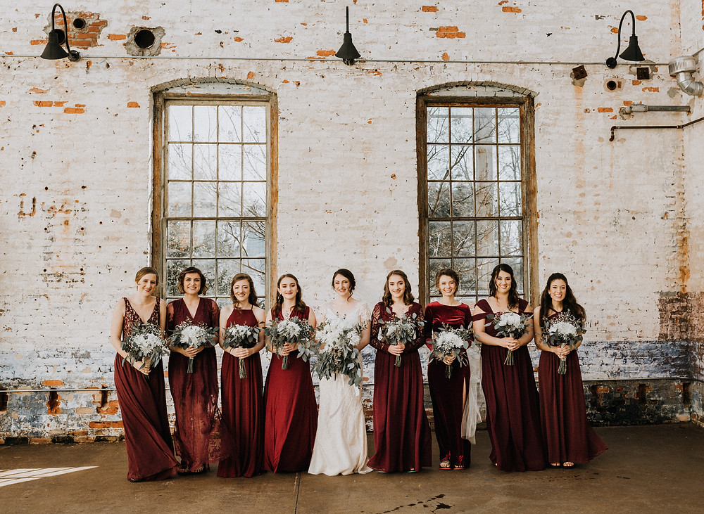 Bride plus Bridesmaids