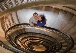 Atlanta staircase engagement session