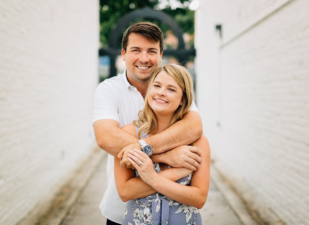 Decatur square engagement session