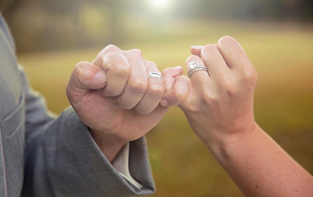 Wedding rings pinky locked