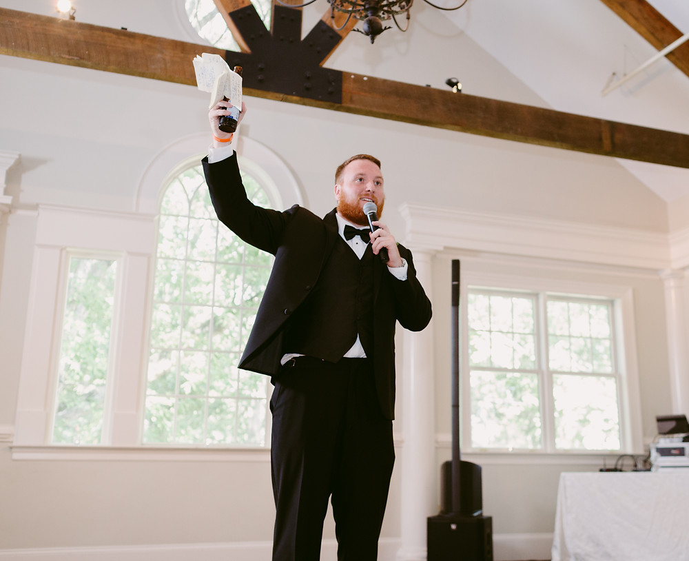 Best man speech with notecards