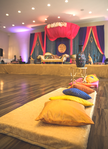 Floor seating at event hall