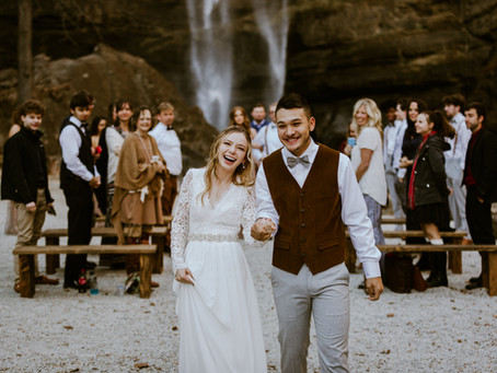 Jillian & Miguel's Toccoa Falls Intimate Wedding