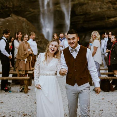 Jillian & Miguel's Toccoa Falls Intimate Wedding