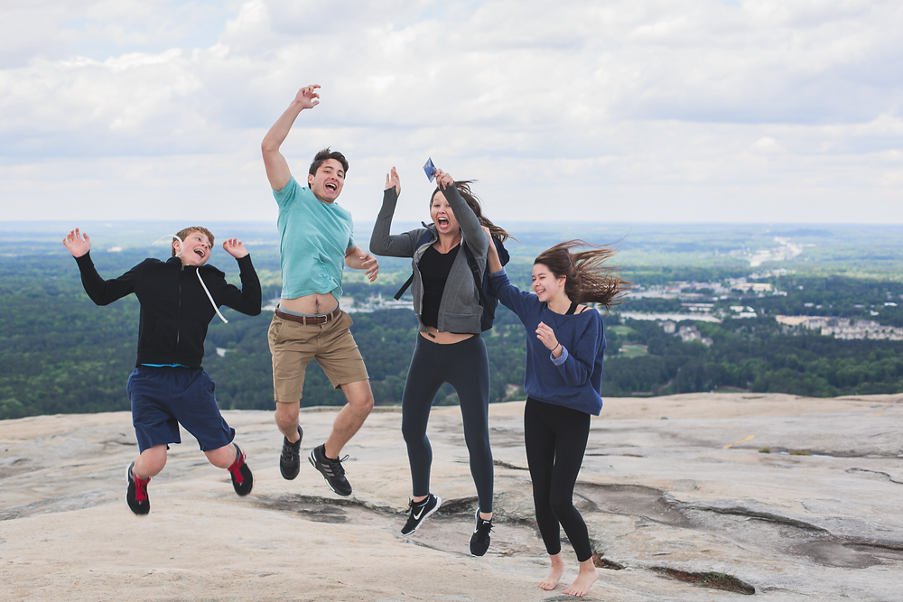 Jumping family picture