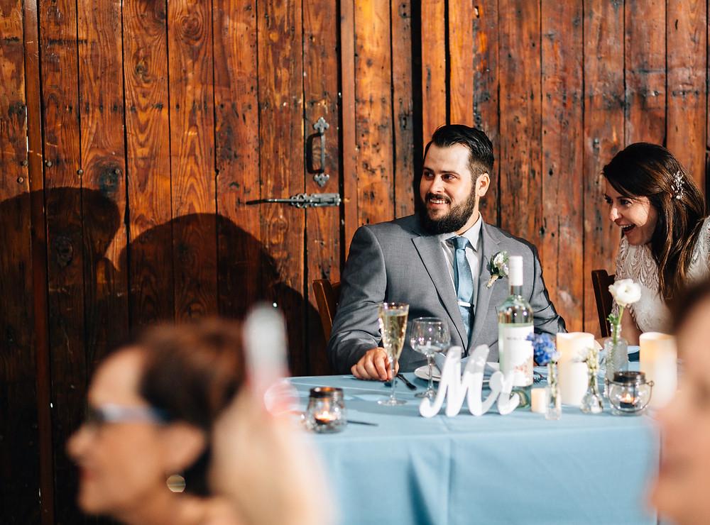 Bride gasps in delight