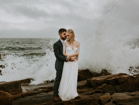 Jodi & Justin Acadia National Park Elopement