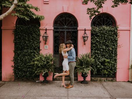 James & Meg | Downtown Charleston, SC Engagement Session