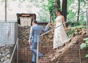 Staircase wedding pictures
