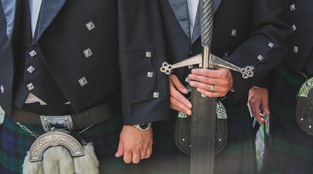 Scottish swords wedding