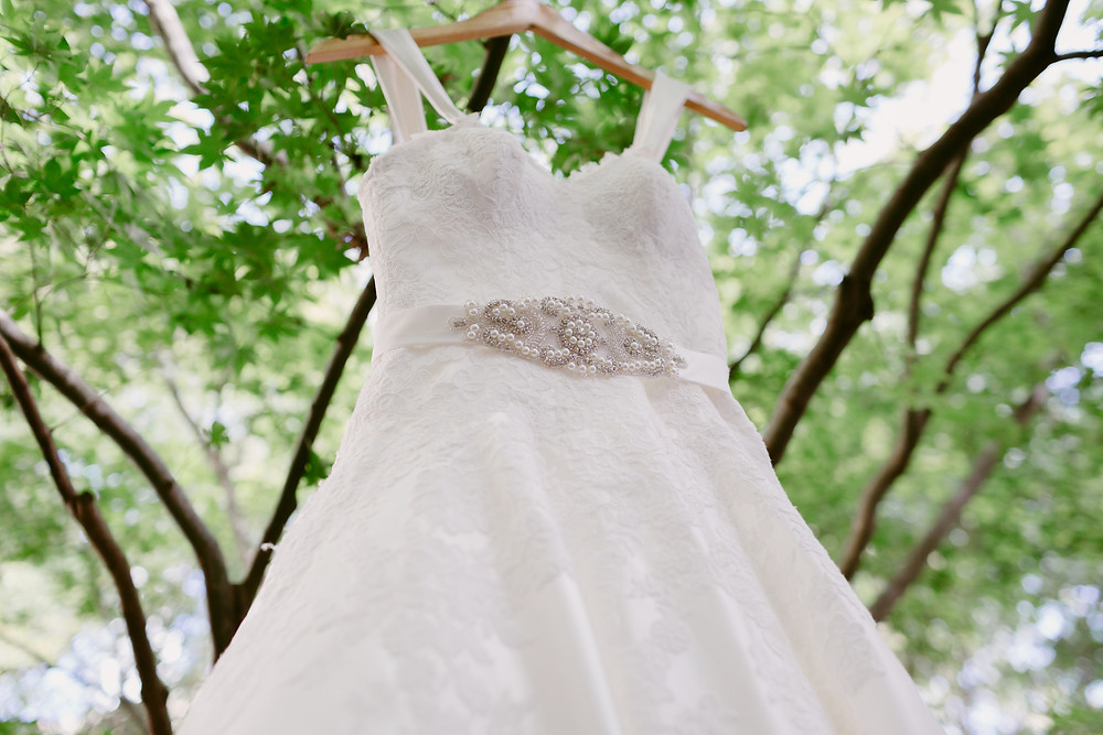 Wedding dress at Cathedral of Christ the King