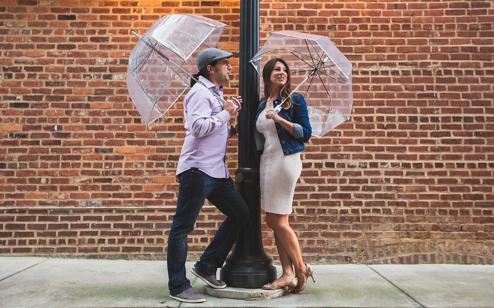 Singin' in the Rain engagement session