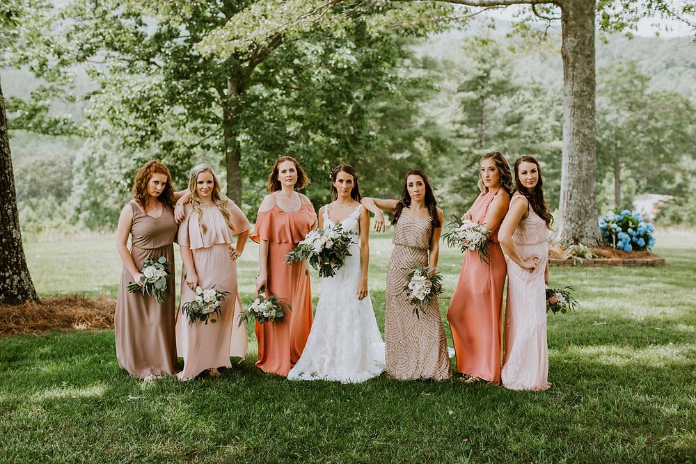 bridesmaids being sassy