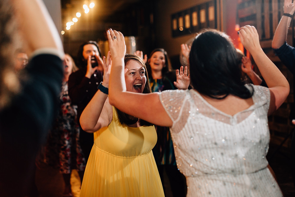 Wedding reception at Urban Tree Cidery