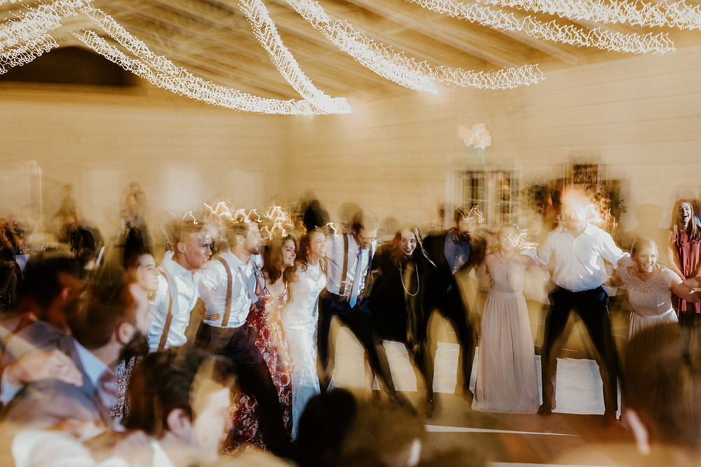 Wedding reception low shutter