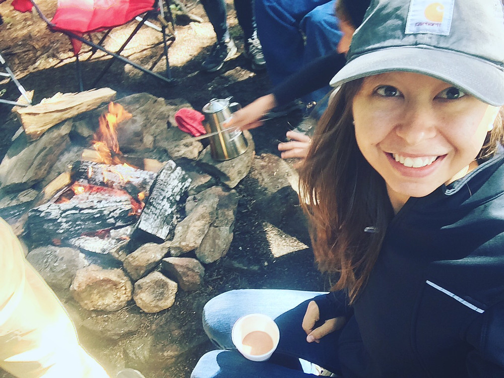 Mountain man breakfast camping