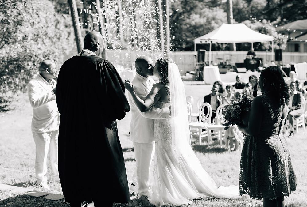 Confetti first kiss