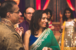 Happy mother and father wedding sangeet