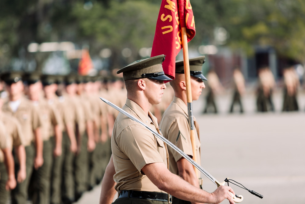 Parris Island Marine Boot Camp Graduation Ceremony