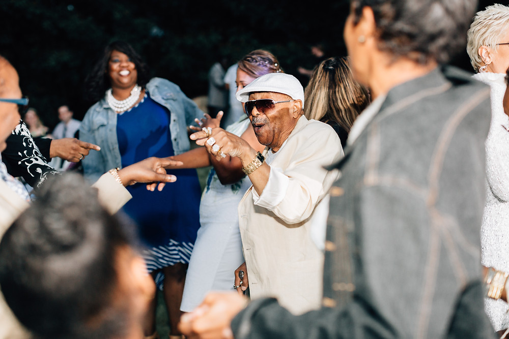 Grandpa gets his boogie on