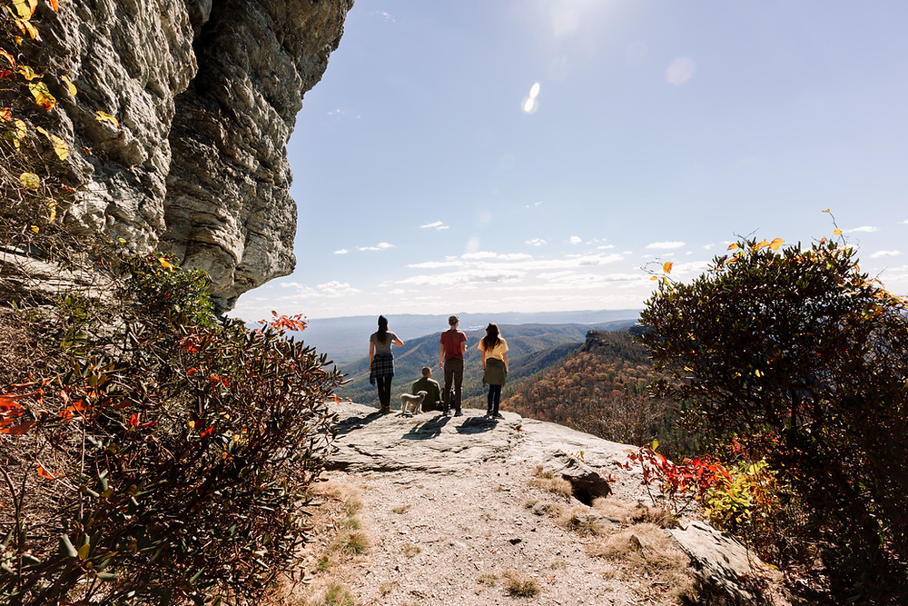 View from cave at Table Rock Mountain