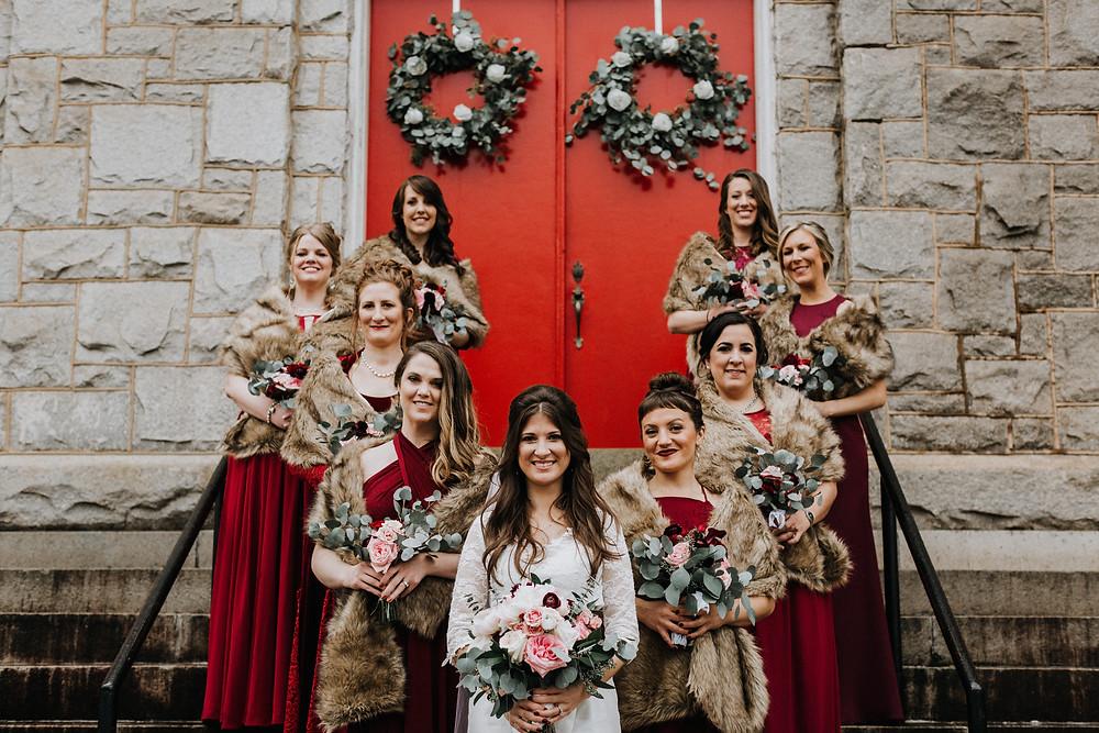 Bridesmaids Winter Boho