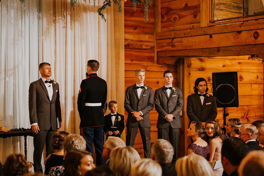 groom turns around
