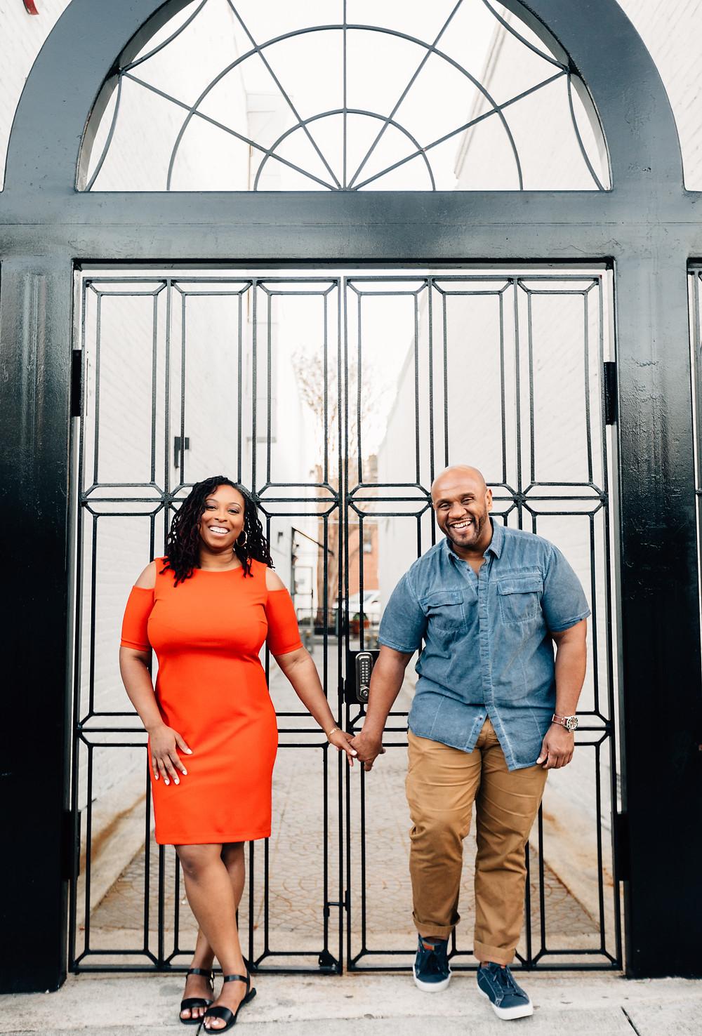Decatur Square rod iron gate