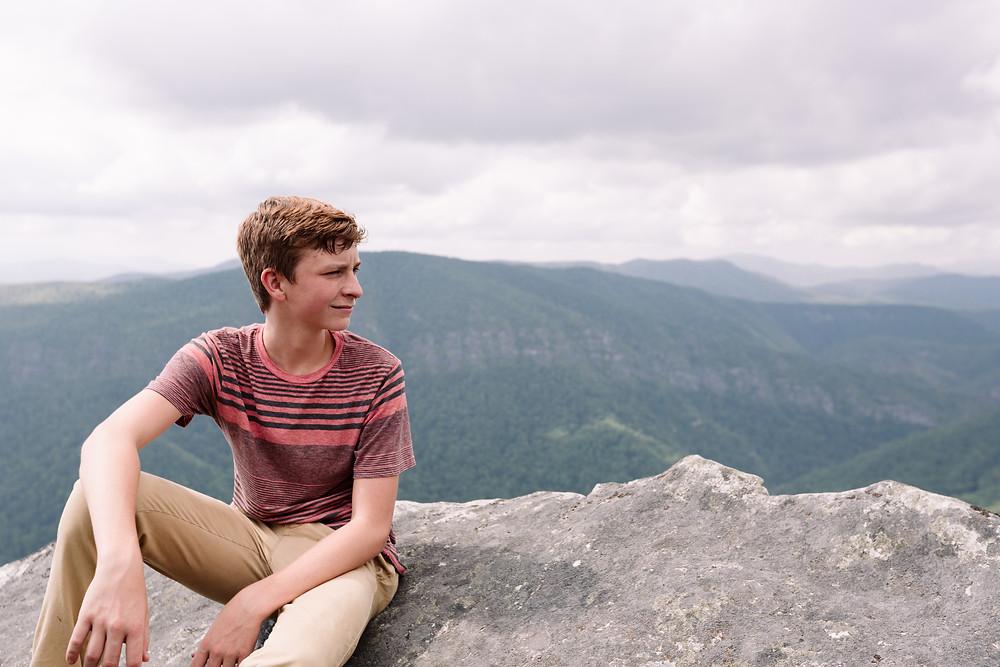 John on the cliff