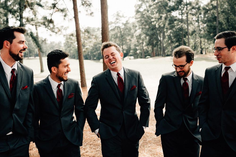 Goofy groomsmen pictures