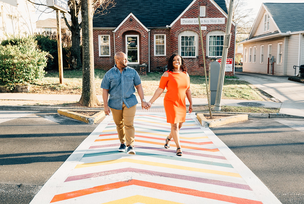 Colorful engagement pictures