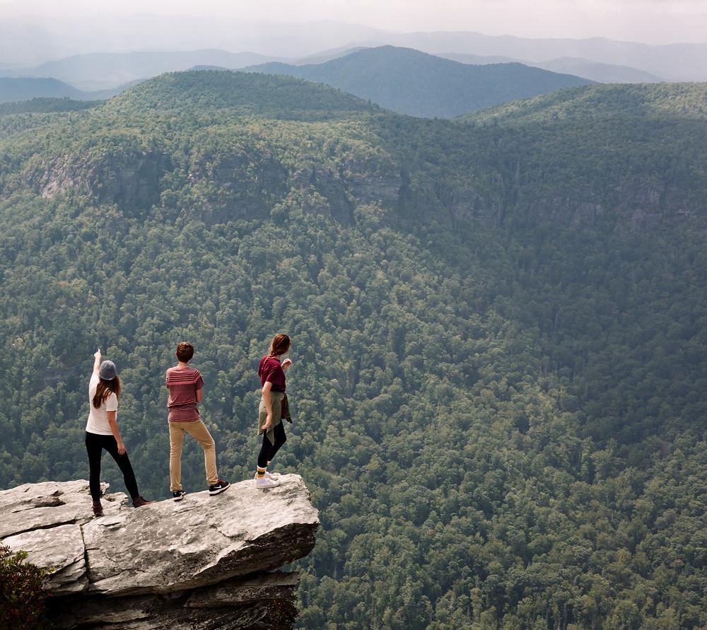 Family camping trip destinations North Carolina