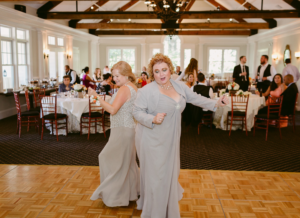 Two mothers at wedding