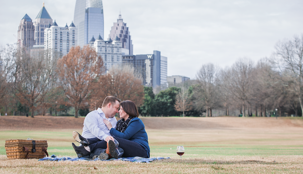 Picnic with wine at Piedmont Park