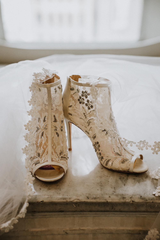 Wedding day heels